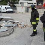 Pompieri a Camerano a seguito di un incidente