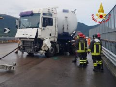 Incidente lungo la SS76 all'altezza di Fabriano