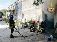 Incendio in una cella frigorifera a Jesi