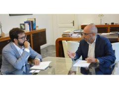 Incontro tra Antonio Mastrovincenzo e Angelo Davide Galeani