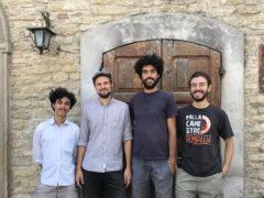 Jacopo Belloni, Emanuele Landi e Luigi Tozzi di Ostra a Smerillo con il trentino Martino Vettori