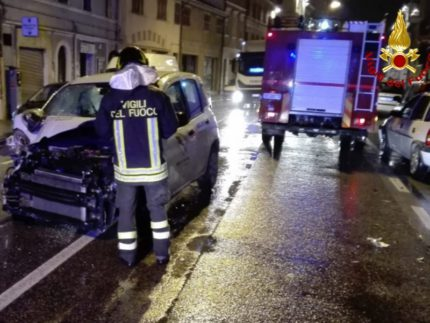 Incidente stradale a Falconara Marittima