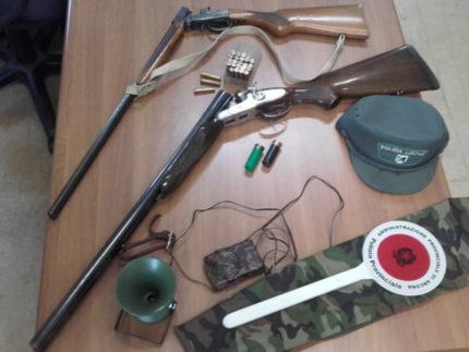 sequestrate armi da fuoco e denunciate due persone per bracconaggio