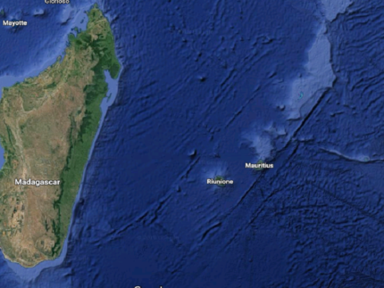 Ubicazione dell'isola di Reunion