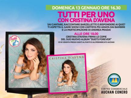 Cristina D'Avena al Centro Commerciale Auchan Conero