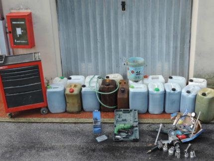 circa 400 litri di carburante per uso agricolo