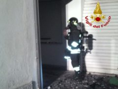 Incendio a Marcelli di Numana