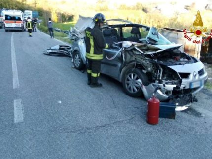 Incidente stradale a Belvedere