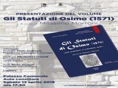 Presentazione della trascrizione degli Statuti Osimani