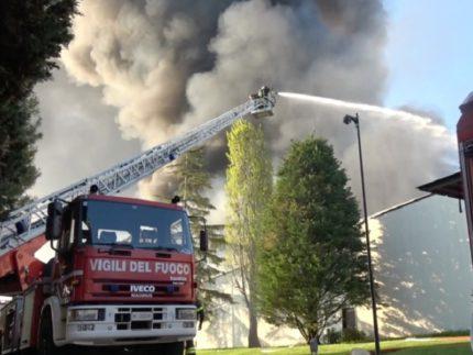 Incendio a Castelfidardo