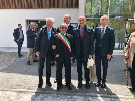 Inaugurazione del nuovo centro polivalente ad Arquata del Tronto