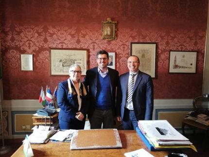 Apertura BCC Ostra e Morro d'Alba a Belvedere Ostrense: Paola Petrini, Riccardo Piccioni, Roberto Crostella