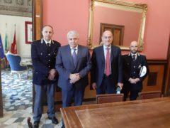 Incontro tra il sindaco di Jesi Bacci e il questore di Ancona Cracovia