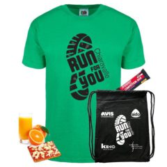 "Kit fornito per la ""Run For You"""