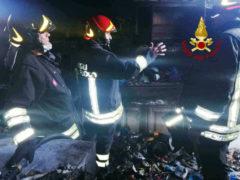 Incendio a Montemarciano