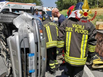 Incidente stadale a Castelfidardo
