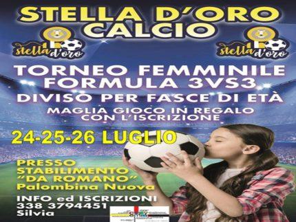 Torneo di calcio femminile organizzato a Palombina dalla Stella d'Oro Calcio