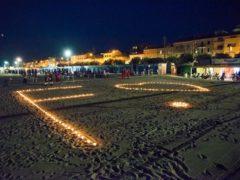 Lanterne sulla spiaggia di Senigallia