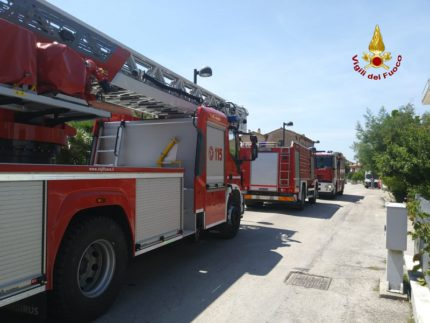 Vigili del Fuoco a Montemarciano