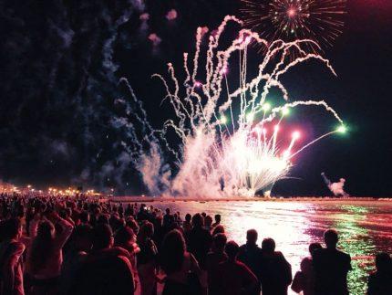 Fuochi d'artificio per la Festa del Mare a Falconara