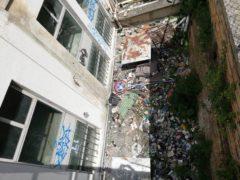 Canalone posto di fianco all'ex-Ipsia di Ancona