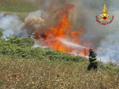 Incendio a Fabriano