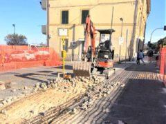 Lavori stradali a Palombina