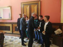 Giovani judoka ricevuti dal sindaco di Jesi Bacci
