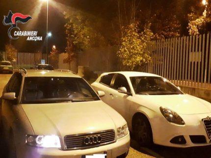 Automobili utilizzate da una banda di ladri