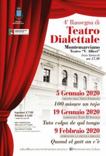 Rassegna Teatro Dialettale 2020 a Montemarciano - locandina