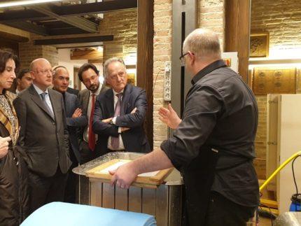 Vincenzo Boccia in visita a Carifac'Arte
