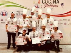 team cuochi Marche secondo ai Campionati della cucina italiana 2020