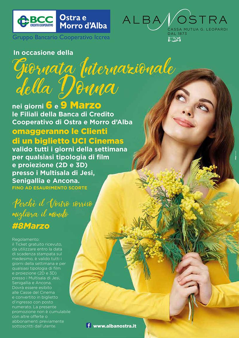 BCC di Ostra e Morro d'Alba rivolge alle Donne per l'8 Marzo un augurio e un omaggio speciali - locandina