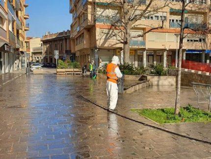 Disinfezione delle strade di Falconara