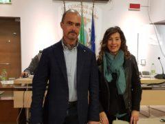 Il sindaco di Falconara Signorini e l'assessore Mondaini
