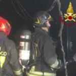 Incendio magazzino Brugnetto di Trecastelli