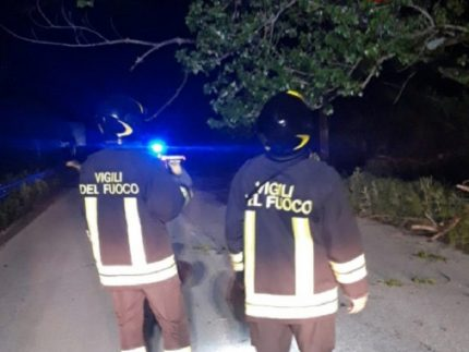 Vigili del Fuoco in azione a Fabriano