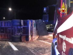 Incidente stradale sull'A-14