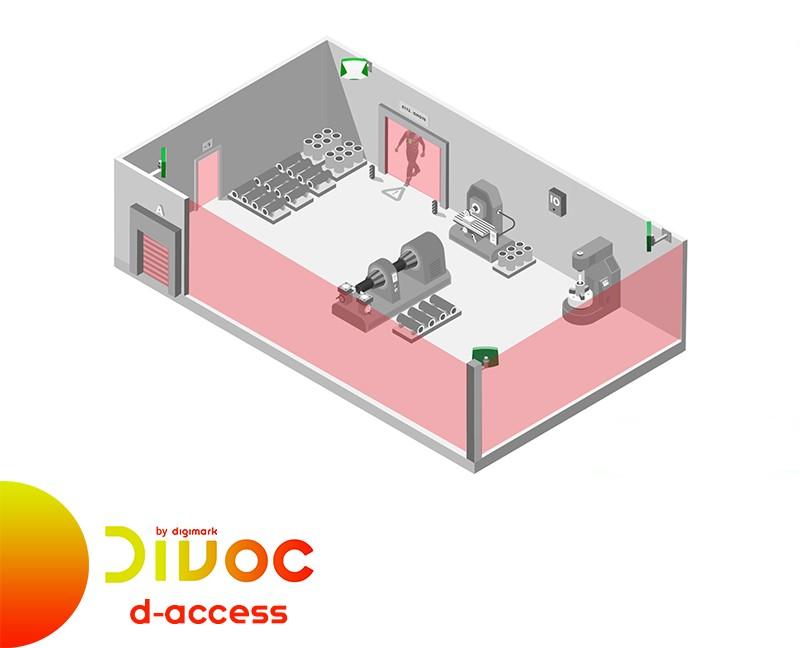 Divoc by Digimark: soluzione D-Access per controllo distanza interpersonale