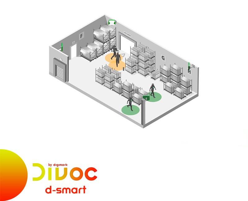 Divoc by Digimark: soluzione D-Smart per controllo distanza interpersonale