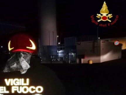 Intervento dei Vigili del Fuoco per una fuga di gas