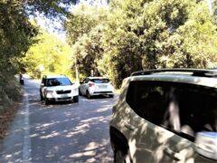 Nuovo semaforo sulla strada per la baia di Portonovo