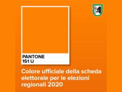 Arancione la scheda elettorale per le elezioni regionali 2020