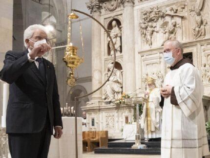 Sergio Mattarella in visita a Loreto