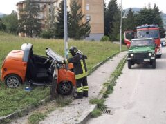 Incidente stradale a Fabriano