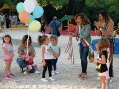 Inaugurazione dei nuovi giochi per bambini al parco Kennedy di Falconara