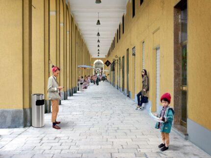 Rendering degli interventi previsti in zona Archi ad Ancona
