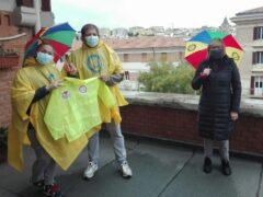 Materiale per i partecipanti al Piedibus ad Ancona