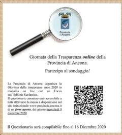 Provincia di Ancona - Giornata della Trasparenza 2020 - locandina