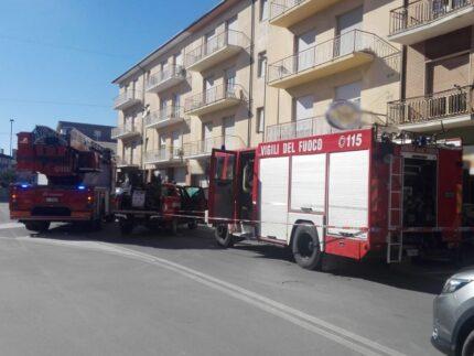 Incendio a Villa Musone
